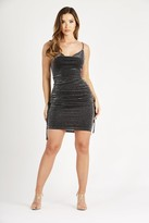 Skirt & Stiletto Black Metallic Rushed Dress