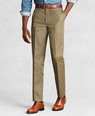 Brooks Brothers Golden Fleece Cotton Linen Chino Trousers