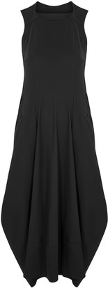 High Favour black stretch-jersey dress