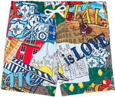 Dolce & Gabbana Graphic swim shorts - Summer Love Italy