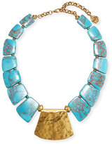 Devon Leigh Turquoise Station Collar Necklace