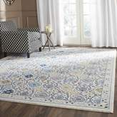 Safavieh Evoke Collection EVK210C Contemporary Ivory and Blue Runner