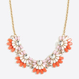 J.Crew Factory Flower fan necklace
