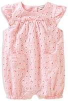 Absorba Girls' Cotton Eyelet Romper - Baby