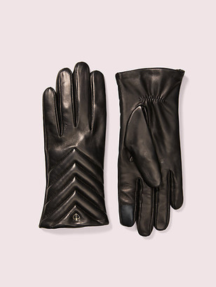Kate Spade Quilted Leather Tech Gloves