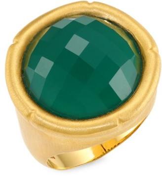 Dean Davidson Green Onyx Bamboo Motif Ring