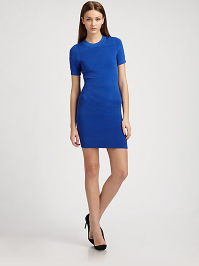 Torn By Ronny Kobo Candy Textured-Knit Dress