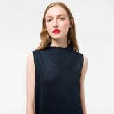 Paul Smith Women's Glittered Navy Wool-Blend Knitted Dress