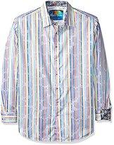Robert Graham Men's Tall Size Laughlin Long Sleeve Button Down Shirt