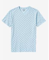 Express anchor print v-neck t-shirt