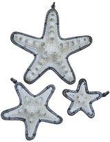 S. Carter Designs Medium Pave Diamond Encased Star Fish Pendant