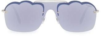 Miu Miu Scallop-Edge Sunglasses