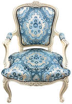 One Kings Lane Vintage French Chair with Velvet Seat