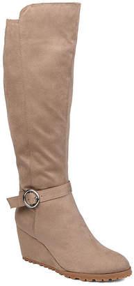 Journee Collection Womens Veronica Wide Calf Dress Boots Wedge Heel