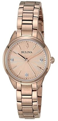 Bulova Classic Sutton Diamonds - 97P151 (Rose Gold) Watches