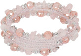 Yours Clothing Pink Beaded Coil Bracelet