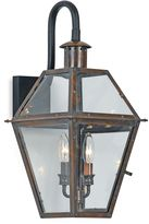 Quoizel Lighting Rue de Royal 2-Light Outdoor Wall Lantern in Aged Copper