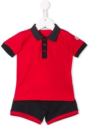Moncler Enfant Polo-Shirt Shorties Set