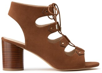 La Redoute Collections High-Heeled Sandals with Lacing at Front