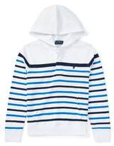 Ralph Lauren Boy's Striped Cotton Jersey Hoodie