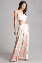 Forever 21 FOREVER 21+ Endless Rose Satin Gaucho Pants