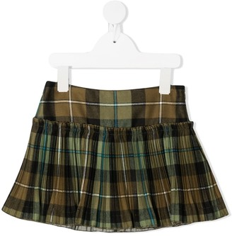 Il Gufo Check Pattern Flared Skirt