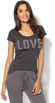 "New York & Co. Sparkling ""Love"" Graphic Logo T-Shirt"