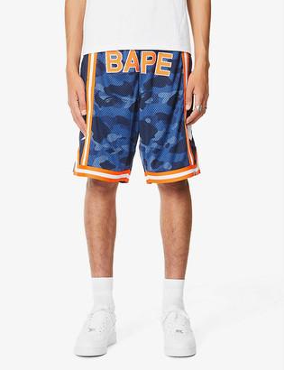 A Bathing Ape Camo basketball mesh shorts