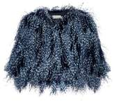 Mary Katrantzou Spike feather cropped jacket