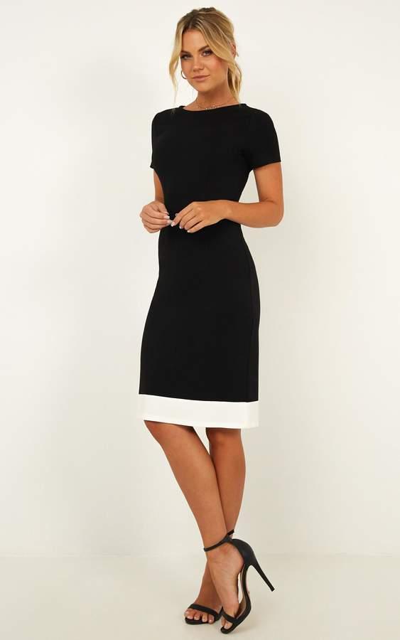 Showpo Task Ticker Dress in black - 8 (S) Dresses