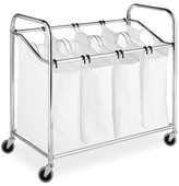 Whitmor Chrome & Canvas 4-Section Laundry Sorter