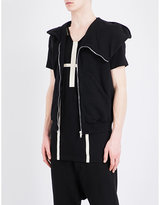 Rick Owens Drkshdw Drkshdw Sleeveless Hooded Cotton Jumper