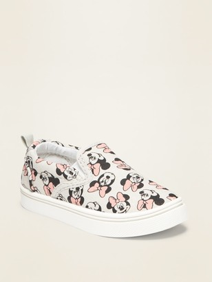 Old Navy Disney Minnie Mouse Canvas Slip-Ons for Toddler Girls