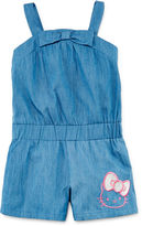 Hello Kitty Chambray Romper - Preschool Girls 4-6x