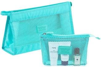 Container Store Aqua Accessory Pouches