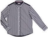Brunello Cucinelli Boy's Striped Button-Down Shirt, Size 12-14