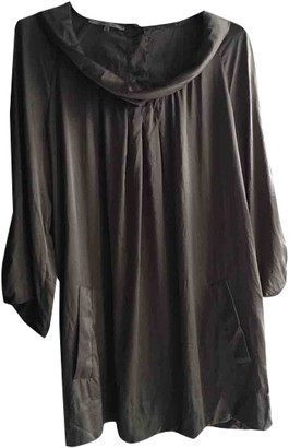 Gerard Darel Beige Silk Top for Women Vintage