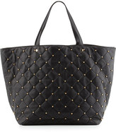Neiman Marcus Beaded Quilted Tote Bag, Black