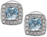 LeVian Le Vian® Aquamarine (3/8 ct. t.w.) and Diamond (1/10 ct. t.w.) Stud Earrings in 14k White Gold