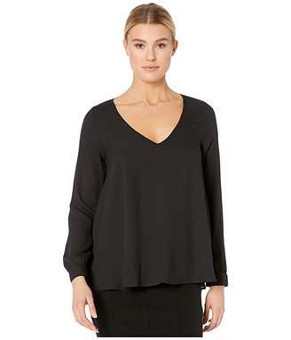 Karen Kane Cross-Back Top (Black) Women's Dress