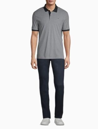 Calvin Klein Regular Fit Liquid Touch Feeder Stripe Polo Shirt