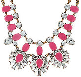 BaubleBar As Is Crystal Feather Bib Necklace