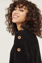 Ardene Chenille Mock Neck Sweater with Button Detail - Clothing |