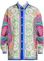 Versace Baroque Denim Overshirt