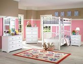 Beatrice Youth 5 Piece Twin/Twin Bunk Bedroom Set in White Finish