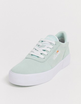 Ellesse alto suede lace up sneaker in mint
