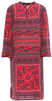 Etro Printed Silk Crepe De Chine Mini Dress