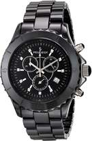 Peugeot Men's Swiss Chronograph Genuine Ceramic Crystal Marker Dress Watch PS968
