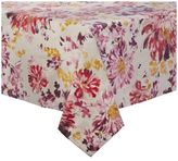 "Sur La Table Red Blossom Teflon Tablecloth, 54"" x 120"";"