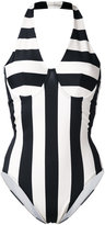 Norma Kamali striped swimsuit - women - Nylon/Spandex/Elastane - M